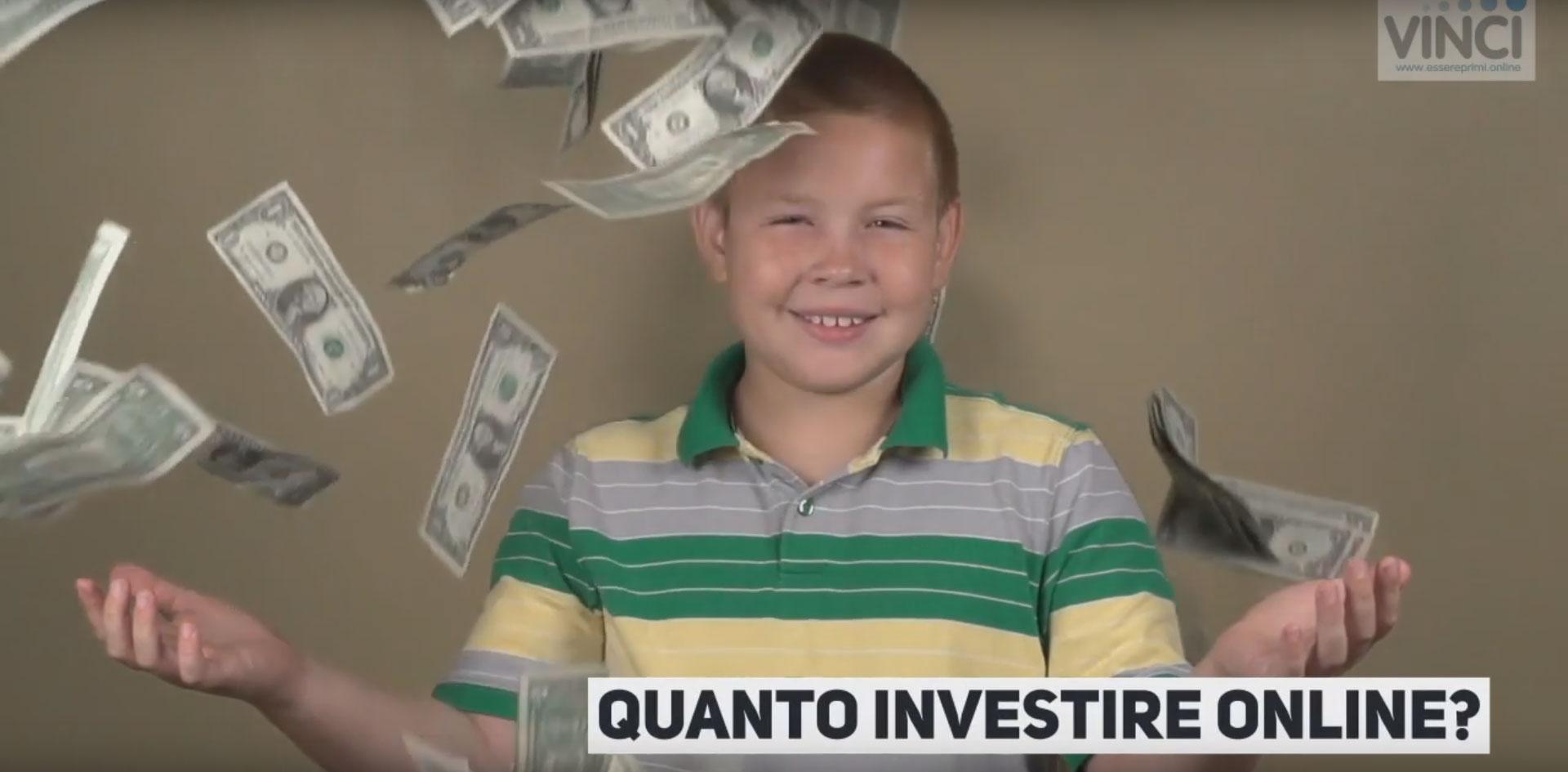 1-Come Quantificare l'investimento Online